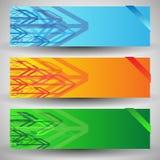 Modern elegant arrows. Modern colorful elegant arrows banners Stock Image