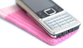 Modern elegant cell phone Stock Photography