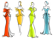 Modern and elegant dresses Royalty Free Stock Photography