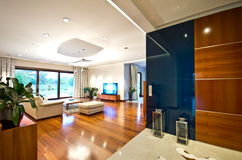 Modern elegant living room Royalty Free Stock Images