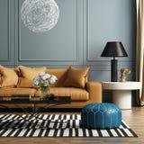 Modern elegant lyxig vardagsrum Royaltyfri Fotografi