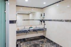 Modern elegant sink in bathroom stock images
