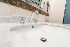Modern elegant sink in bathroom Royalty Free Stock Photos