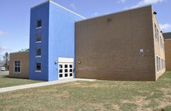 Modern elementary school exterior royalty free stock photography