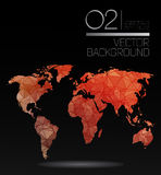 Modern elements of info graphics. Polygonal, mosaic World Map Royalty Free Stock Photography