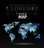 Modern elements of info graphics. Polygonal, mosaic World Map Royalty Free Stock Image