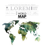 Modern elements of info graphics. Polygonal, mosaic World Map Stock Photos