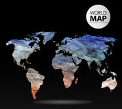 Modern elements of info graphics. Watercolor, paper World Map Stock Photography