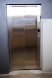 Modern elevator with closed door Royalty Free Stock Photography
