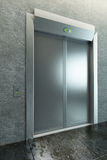 Modern elevator with closed doors Stock Images