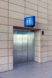 Modern elevator with closed doors Stock Photos
