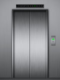 Modern elevator with closed metal doors Royalty Free Stock Photo