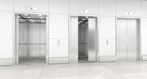 Modern elevator 3d Royalty Free Stock Photos