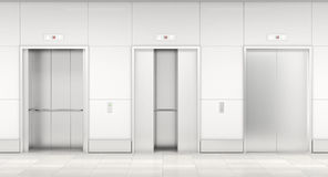Modern elevator 3d Royalty Free Stock Images