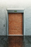 Modern elevator with deadlock Royalty Free Stock Photos