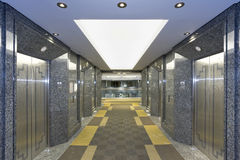Modern elevator lobby Stock Image