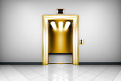 Modern elevator with open doors Royalty Free Stock Photos