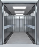 Modern elevator with opened doors. 3d illustration Royalty Free Stock Image