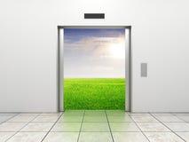 Modern elevator Stock Images