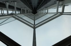 Modern elevator shaft Stock Photography