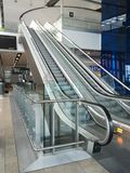 Modern elevators in Dublin airport stock images