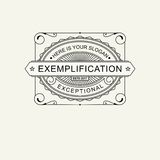 Modern emblem, badge, label, monogram template. Luxury elegant frame ornament line logo design vector illustration. Art. Nouveau style Royalty Free Stock Image