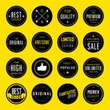 Modern emblem och etikett Royaltyfria Bilder