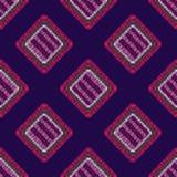 Modern embroidery carpet geometric shape seamless pattern stock illustration