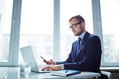 Modern employer Royalty Free Stock Photos