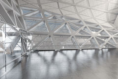 Modern empty atrium or hall interior. Modern Design Empty White Atrium or Hall Interior. 3d Rendering Stock Image