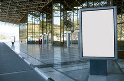 Modern empty billboard Royalty Free Stock Image
