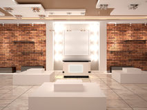 Modern empty boutique in the mall. Royalty Free Stock Images