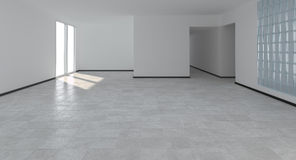 Modern empty interior. With glass brick Stock Photo
