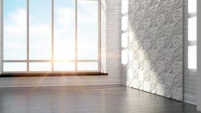 Modern empty interior Stock Image