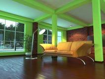 Modern empty interior with orange sofa Royalty Free Stock Image
