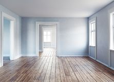 Modern empty interior. The Modern empty interior rooms. 3d rendering Stock Photos