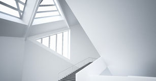 Modern Empty minimalist atrium | Architecture Interior Stock Photo