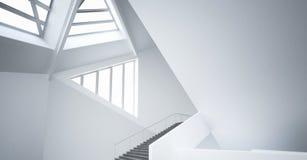 Modern Empty minimalist atrium | Architecture Interior. A 3d rendering of modern empty minimalist atrium stock illustration