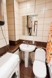 Modern empty new bathroom interior. Contemporary living flat Stock Photos
