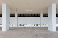 Modern Empty Parking Garage Interior In Apartment Or In Supermar Royalty  Free Stock Image