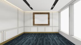 Modern Empty Room, 3d render interior design, mock up illustrati Royalty Free Stock Images