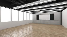 Modern Empty Room, 3D render interior design, mock up illustrati Stock Images