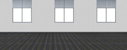 Modern Empty Room, 3D render interior design, mock up illustrati. On Royalty Free Stock Photo
