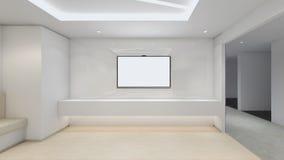 Modern Empty Room, 3D render interior design, mock up illustrati. On Royalty Free Stock Photography