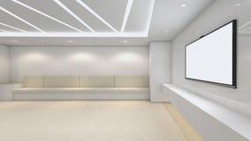 Modern Empty Room, 3D render interior design, mock up illustrati. On Stock Photography