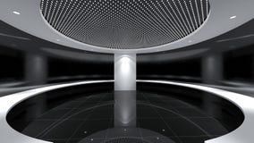 Modern Empty Room, 3D render interior design, mock up illustrati. On Stock Photo