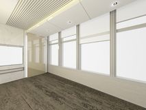 Modern Empty Room, 3d render interior design, mock up illustrati Stock Photos