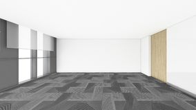 Modern Empty Room, 3d render interior design, mock up illustrati Royalty Free Stock Photography