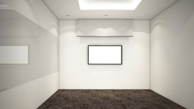 Modern Empty Room, 3d render interior design, mock up illustrati Royalty Free Stock Image