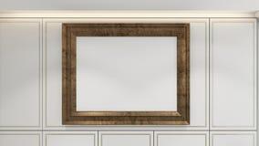 Modern Empty Room, 3d render interior design, mock up illustrati Royalty Free Stock Photography